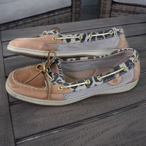 Sperry Angelfish Womens Size 12 Shoes leopard